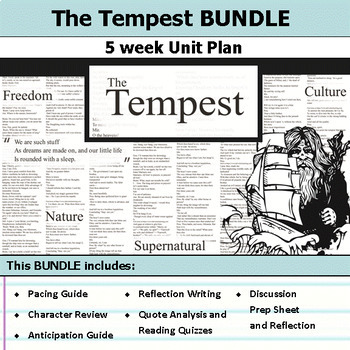 The Tempest Questions Worksheets & Teaching Resources | TpT