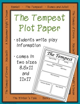The Tempest plot paper and poster