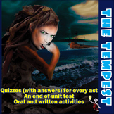 The Tempest: quizzes, test and activities