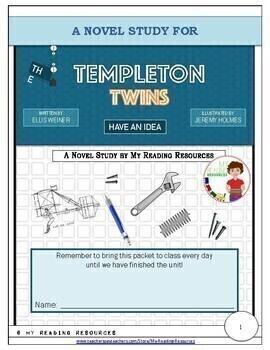 The Templeton Twins Have an Idea by Ellis Weiner Literature Unit