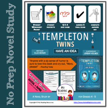 Ellies story teaching resources teachers pay teachers the templeton twins have an idea by ellis weiner novel study print digital fandeluxe Images