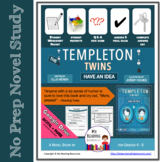 Templeton Twins Have an Idea Novel Study  Print + DIGITAL + PART A,B Questions