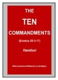 The Ten Commandments Bible Verses Bundle