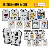 The Ten Commandments Clip Art Set (including Catholic Vers
