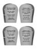 The Ten Commandments Handout with activities