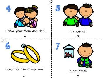 The Ten Commandments Mini Book
