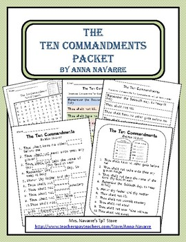 The Ten Commandments Packet