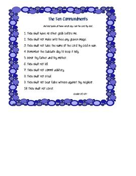 The Ten Commandments Poster FREEBIE