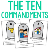 The Ten Commandments Posters, Coloring Pages, and Mini Books