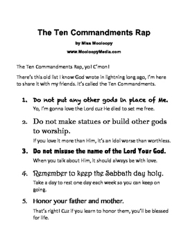 The Ten Commandments Rap by Lily Mulupi