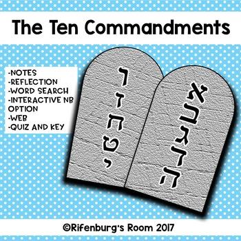 The Ten Commandments Unit -10 Commandment Activities -Ten Commandment Activities