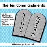 The Ten Commandments Unit -10 Commandment Activities -Ten
