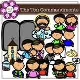 The Ten Commandments digital clipart (color and black&white)
