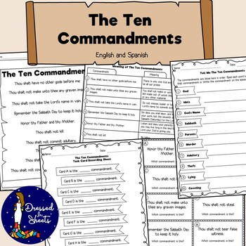 The Ten Commandments in English and Spanish