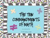 The Ten Commandments of Math
