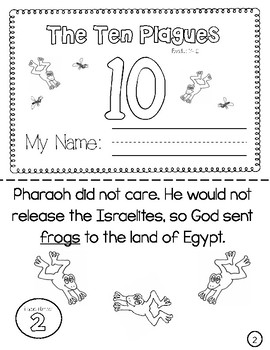 graphic about 10 Plagues Printable known as The 10 Plagues Mini E book