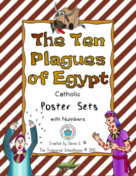 The Ten Plagues of Egypt Poster Sets with Numbers