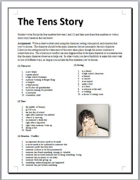 The Tens Story - Creative Writing & Thinking