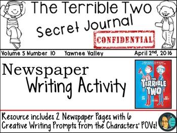 The Terrible Two - Mac Barnett- Creative Writing Activity