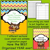 Teacher Binder-  Owl/Bird Theme The Ultimate Binder! Updates each year!