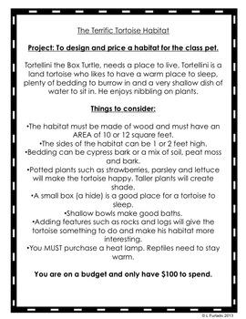 The Terrific Tortoise Habitat - an open-ended Math Project