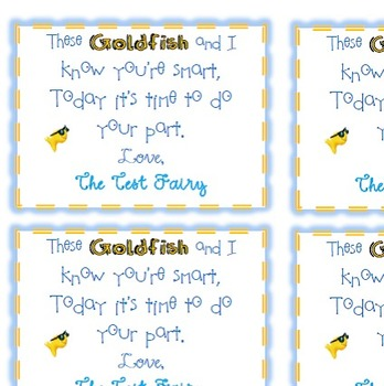 The Test Fairy: Test Prep Treat Tags