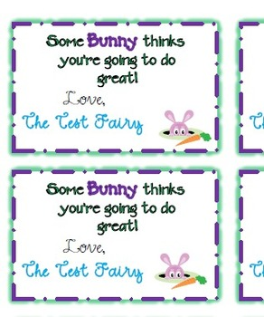 The Test Fairy: Test Prep Treat Tags