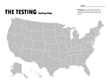 The Testing by Joelle Charbonneau Free Map