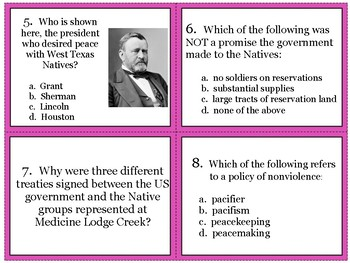 The Texas Frontier Task Cards