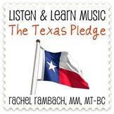 The Texas Pledge: Educational Song (MP3 + Instrumental Tra