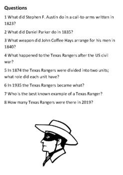 The Texas Rangers Handout