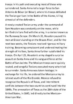 The Texas Revolution Handout