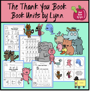 The Thank You Book  Book Unit