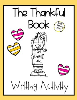 The Thankful Book Writing Activity