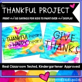 The Thankful Project .. A Creative Thanksgiving Activity to Paint