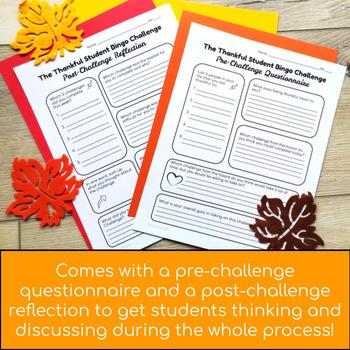The Thankful Student Bingo Challenge - Perfect for the Thanksgiving Season!