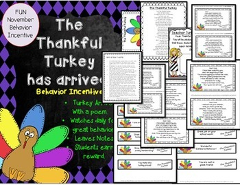 The Thankful Turkey has Arrived  {Behavior Incentive for November}