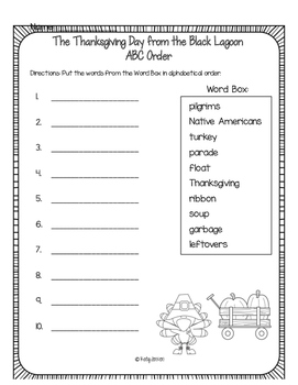 The Thanksgiving Day from the Black Lagoon Book Companion