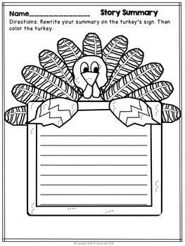 The Thanksgiving Day from the Black Lagoon Novel Study and Activities