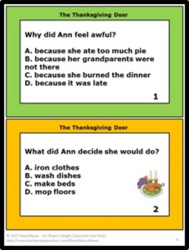 The Thanksgiving Door Book Unit