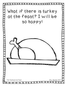 The Thanksgiving Feast {An Emergent Reader}