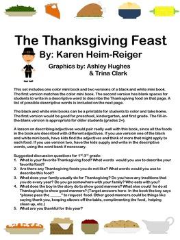 The Thanksgiving Feast Mini Book