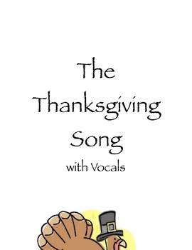 The Thanksgiving Song ....Music w/ vocals