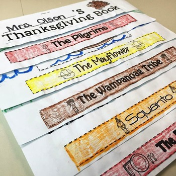 The Thanksgiving Story Flip Flap Book- Thanksgiving Activities