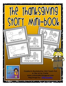 """""""The Thanksgiving Story"""" mini-book"""
