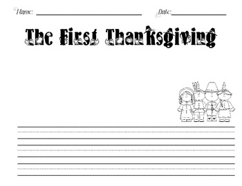The Thanksgiving Story/The First Thanksgiving Writing Paper DIFFERENTIATED