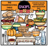 The Thanksgiving Table Clip Art {Educlips Clipart}