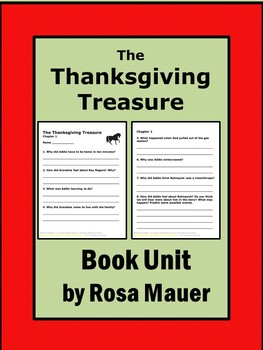 The Thanksgiving Treasure Book Unit