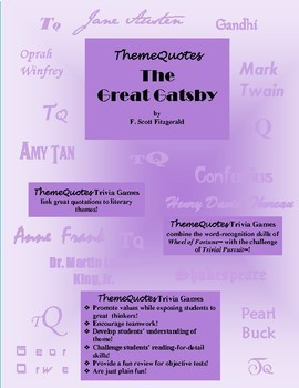 The Great Gatsby Trivia Game—300+ questions! Not Your Typical Trivia Game!