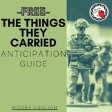 The The Things They Carried Anticipation Guide / Print + D